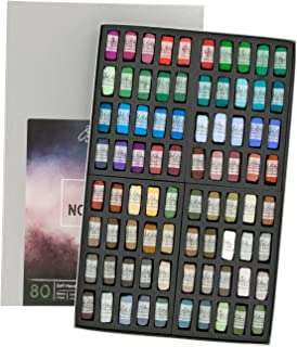 Jack Richeson Hand Rolled Soft Pastels Nocturne 3, 80 Piece Set