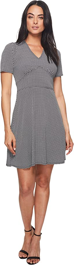 MICHAEL Michael Kors Mod Geo Flare Dress