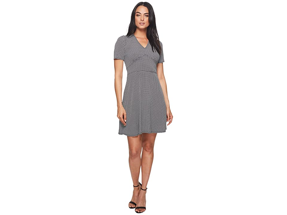 MICHAEL Michael Kors Mod Geo Flare Dress (Black/White) Women