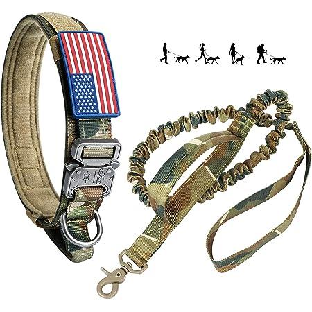 ADITYNA Tactical Dog Collar Adjustable Dog Collar with Handle Training and Service Dog Collar for German Shepherd Military K9 Dog Collar