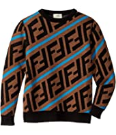 Fendi Kids - All Over Logo Print Sweater (Little Kids/Big Kids)