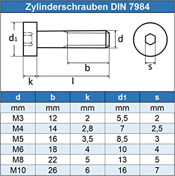 Gewindeschrauben Zylinderschrauben mit Innensechskant M5 x 35 mm 10 St/ück - Zylinderkopf Schrauben ISO 4762 Eisenwaren2000 DIN 912 Edelstahl A2 V2A- rostfrei
