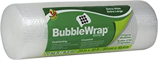 Duck Brand Bubble Wrap Roll, 24 Inches Wide x 35 Feet, Perforated Every 12