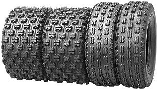 Set of 4 New Sport ATV Tires 22x7-10 Front & 22x10-10 Rear /4PR - 10077/10089
