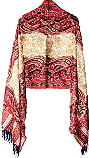 Missy & Plus Cashmere Feel For Women, Super Soft Pashmina Silk Mix Shawl For Cold Weather 2551