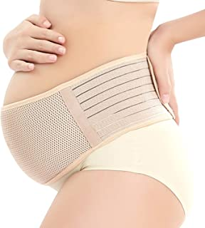 Maternity Support Belt Breathable Pregnancy Belly Band Abdominal Binder Adjustable Back/Pelvic Support- XL