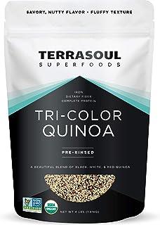 Terrasoul Superfoods Organic Tri-Colored Quinoa 4 Lbs