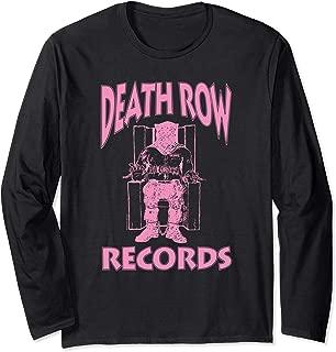 Death Row Records Logo Pink Long Sleeve T-shirt