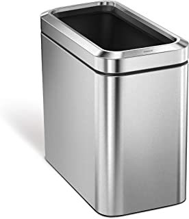 Best narrow stainless steel trash can Reviews
