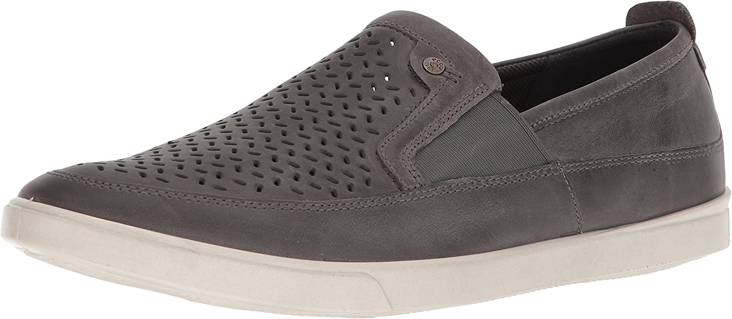 ECCO Men's Collin Perforated Slip On Turnschuhe, Titanium, 46 M EU (12-12.5 US)