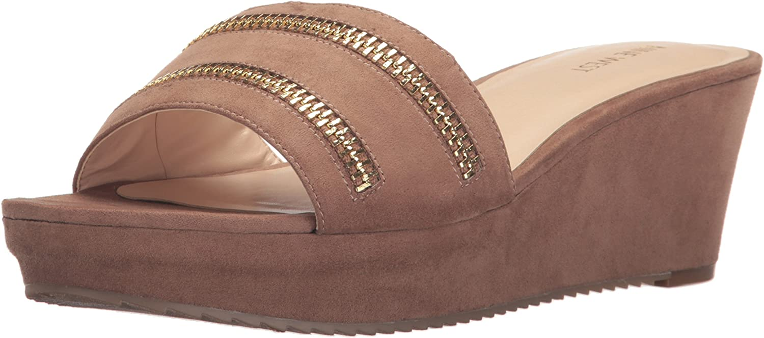 Nine West Women's Camira Leather Wedge Sandal