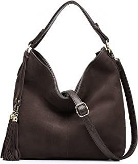 Realer Hobo Bag for Women Tote Leather Purse Crossbody Bag Large (Coffe)