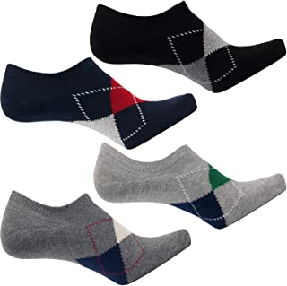 DOUBLE M, 4 Pares de Calcetines Tobillero para Hombre Mujer, Calcetines de Vestir, de Algodón, Calcetines Suaves, Talla ún...