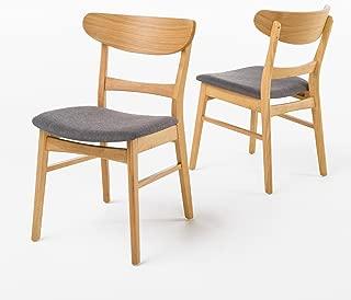 Christopher Knight Home Idalia Dining Chair (Set of 2), Dark Grey