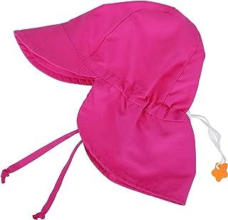 SimpliKids UPF 50+ UV Ray Sun Protection Baby Hat w/Neck Flap & Drawstring