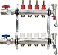 4 Loop Stainless Steel PEX Manifold With 1/2