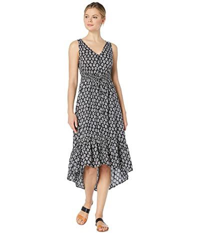 Lucky Brand Printed Felice Dress (Black Multi) Women