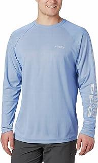 قميص بي اف جي تيرمنال عاكس من كولومبيا للرجال اكمام طويلة، جيد التهوية ويوفر حماية من اشعة الشمس فوق البنفسجية