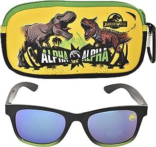 Jurassic World Kids Sunglasses with Kids Glasses Case, Protective Toddler Sunglasses