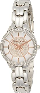 Michael Kors Womens Quartz Watch, Analog Display and Stainless Steel Strap MK4411