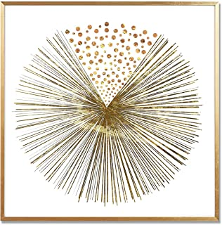 MOTINI Abstract Printing on Acrylic of Gold Sunburst 23.62