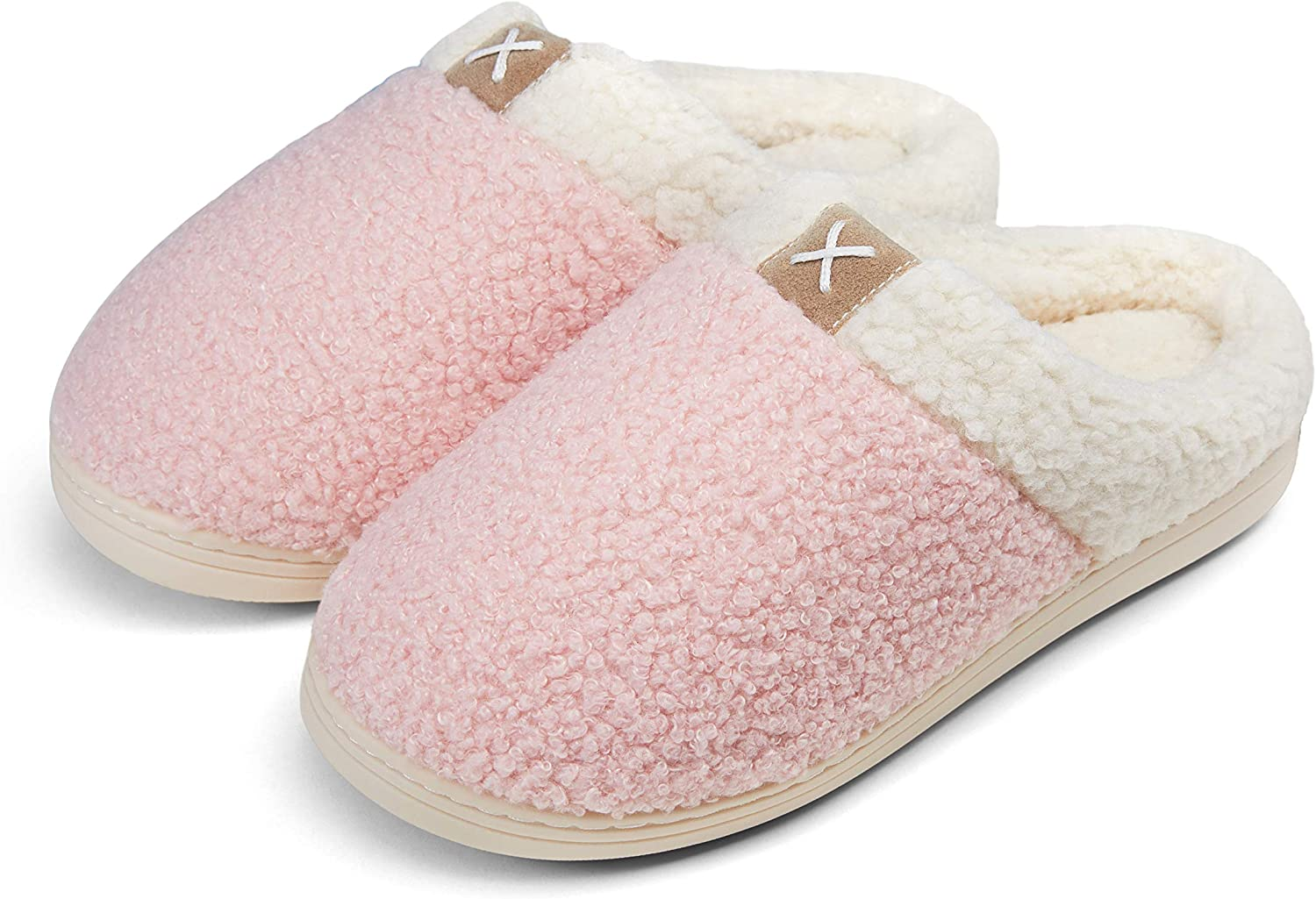 Vepose Women's Cozy Slippers Memory Foam T New life Daily bargain sale Fur Lined Faux Closed