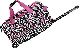 "Rockland 22"" Rolling Duffle Bag, Pink Zebra (Multi) - PRD322"