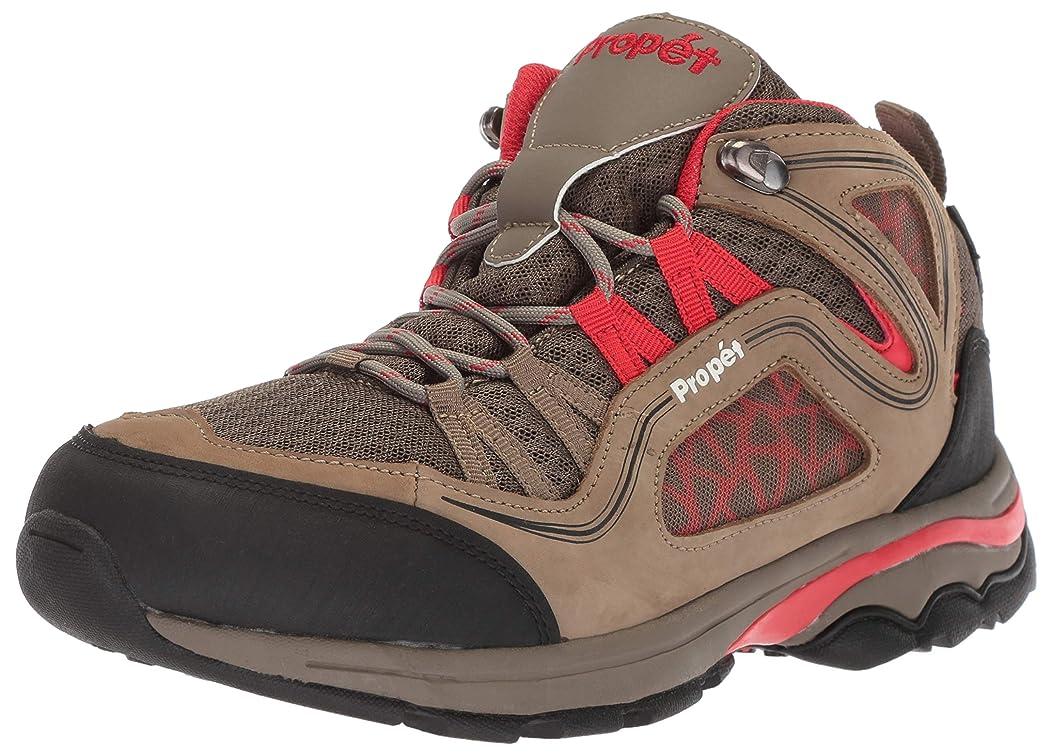 許可ランプ悪夢[Propet] Women's Peak Gunsmoke/Red Mid-Top Hiking Shoe - 8W