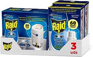 Raid Muggenbescherming Plus, bevat 1 elektrische diffuser + 3 navullingen, 180 nachten, kleurloos