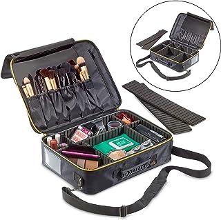 1790 Large Makeup Organizer - Travel Cosmetic Bag Lightweight - Electronics Travel Organizer - Adjustable Dividers - Lock-...
