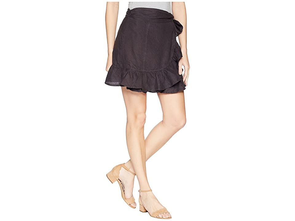 Blank NYC Hi Rise Ruffle Mini Skirt in Earl Grey (Earl Grey) Women