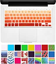 DHZ Orange Ombre Keyboard Cover Silicone Skin for 2015 or Older Version MacBook Air 13 MacBook Pro 13 15
