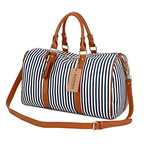 67feaca34 BAOSHA HB-24 Ladies Women Canvas Weekender Bag Travel Duffel Tote Bag  Weekend Overnight Travel