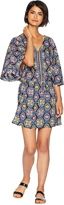 Sun Temple Kaftan Cover-Up