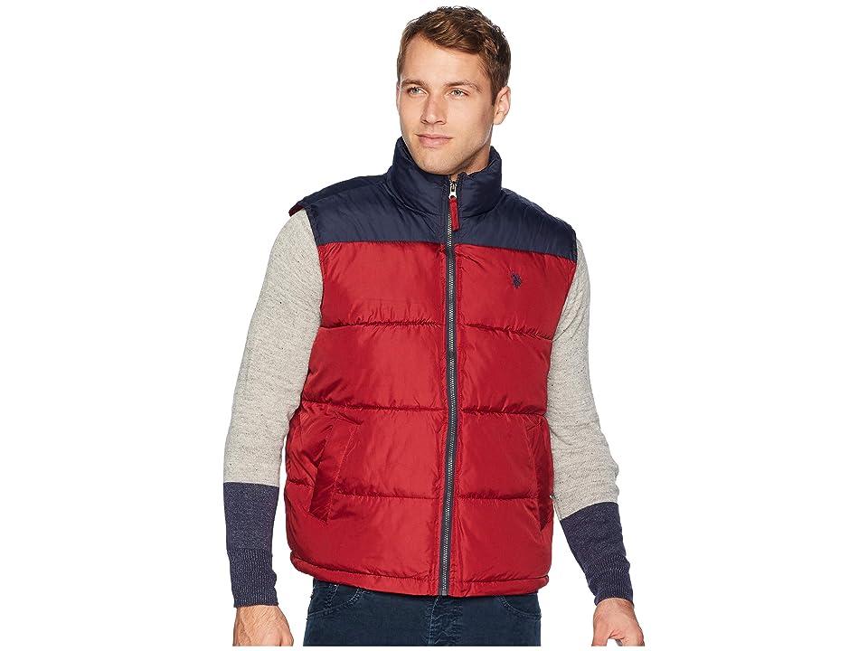 U.S. POLO ASSN. Color Block Vest (University Red) Men