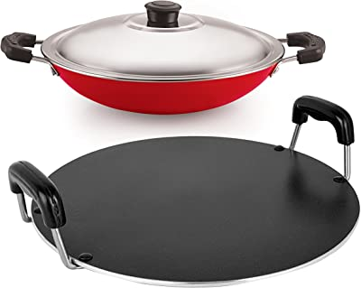 Nirlon Non-Stick Aluminium Chemical Free Healthy Cookware Combo Set Offer, 2 Piece