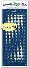 Moon Calendar 2020, Moon Over Me Almanac Card, 24-Pack