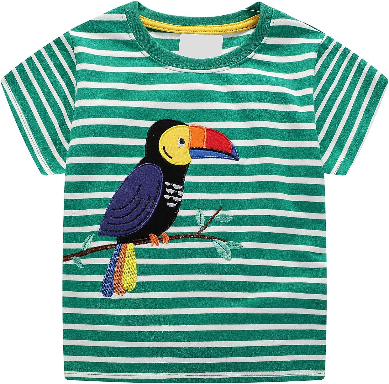 T-Shirt /& Shorts Baby-Jungen Sommer Kurzarm Baumwolle Tops T-Shirts Outfits Tier Kran Drucken Kinder Jungen 1 2 3 4 5 6 7 Jahre Alt