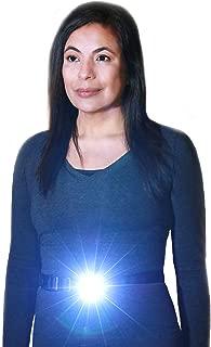 LIGHTWALKER Running Belt Light, LED Rechargeable Headlamp Alternative, Bright 250 Lumens for Dog Walking Safety and Night Running, Water Resistant, 1 Yr Warranty, 2 Sizes