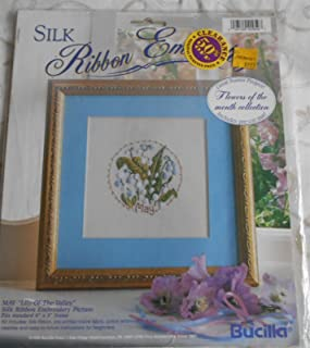 Bucilla Silk Ribbon Embroidery May Flower Of The Month Kit