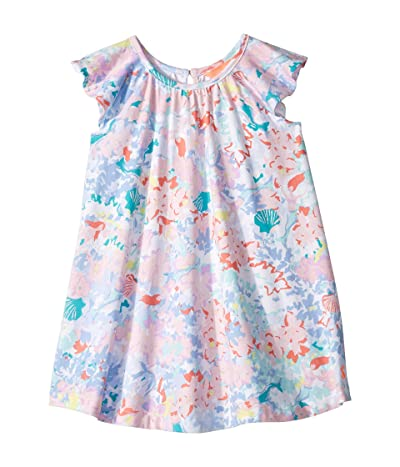 Joules Kids Vivi Dress (Toddler/Little Kids/Big Kids) (Blue Mermaid Ditsy) Girl