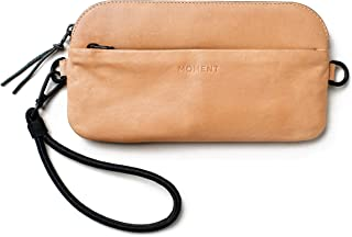 Moment - Wristlet in Natural American Leather - Carry Your iPhone, Wallet, and Lenses.