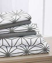 Elegant Comfort ™ Luxury Soft Cube Printed Set-1500 Thread Count Egyptian Quality Microfiber 6-Piece Set Wrinkle Resistant...