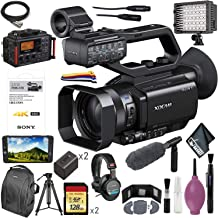 Sony PXW-X70 Professional XDCAM Compact Camcorder 128GB 4K Upgrade License Key NP-FV70 Tripod Video Light Straps ECM-VG1 DR-60DmkII 7