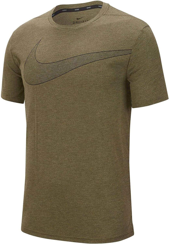 Nike Men's Dri-FIT Breathe Top Sleeve Ranking TOP12 Cheap bargain Short Training