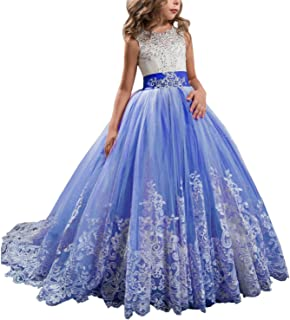 GZY Girls Toddler Pageant Dresses for Teens Lilac Flower Girls Dress GZY50