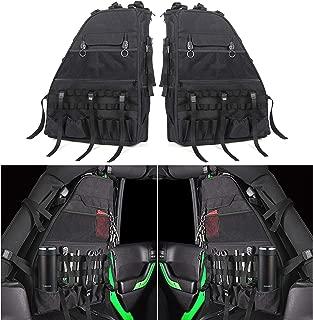 Roll Bar Storage Bag Cage with Multi-Pockets for Jeep Wrangler JK JKU TJ LJ Unlimited 4 Doors - Pack of 2