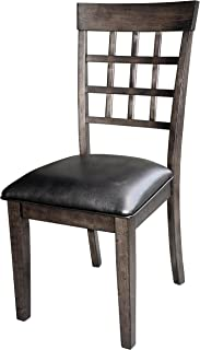 A-America Bristol Point Lattice Back Side Chair - 2 Chairs, Warm Grey