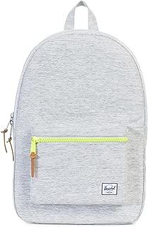 Herschel Settlement, Light Grey Crosshatch/Acid Lime Zip Backpack