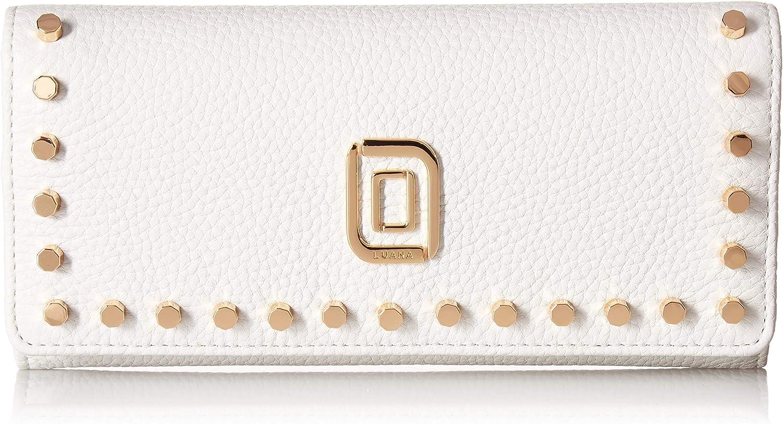 LUANA low-pricing ITALY Women's DITA w half Studs Wallet Bianco